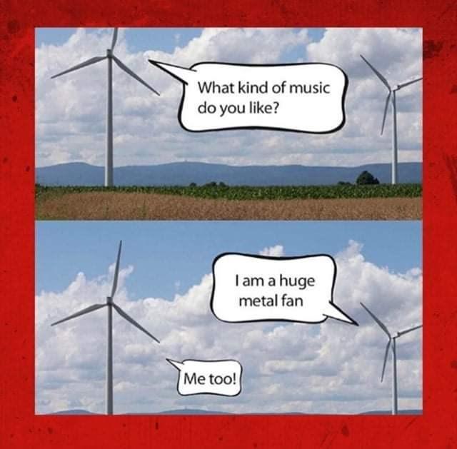Cartoon - What kind of music do you like? I am a huge metal fan Me too!