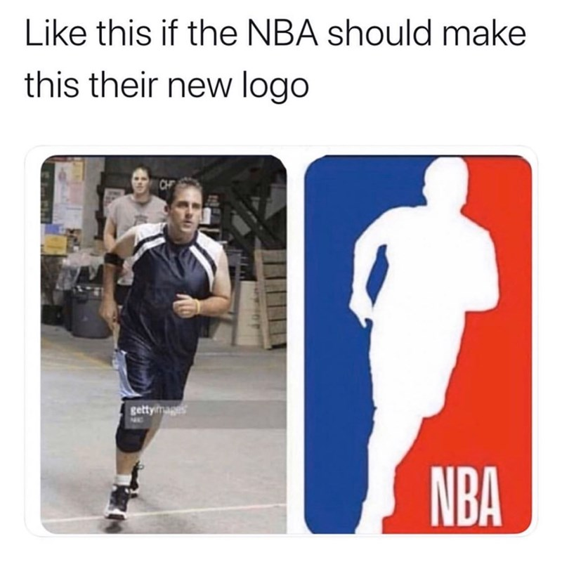Player - Like this if the NBA should make this their new logo gettymags NBA
