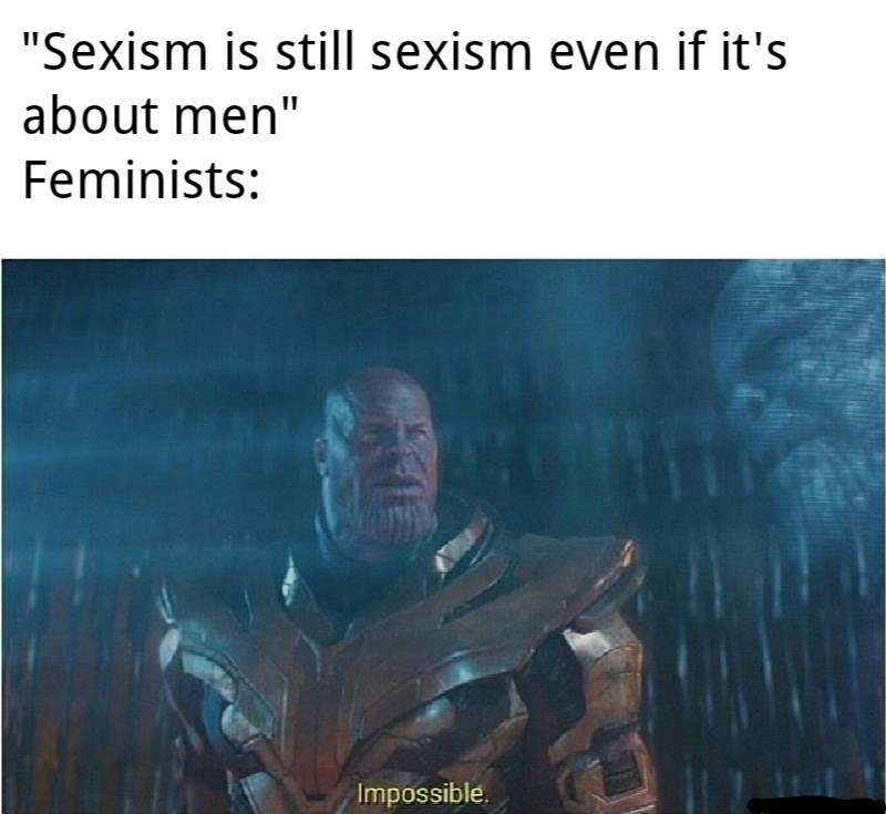 """Action-adventure game - """"Sexism is still sexism even if it's about men"""" Feminists: Impossible"""
