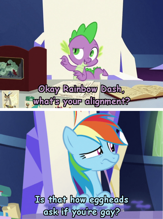spike incorrect my little pony quotes screencap dungeons and discords rainbow dash - 9376793088