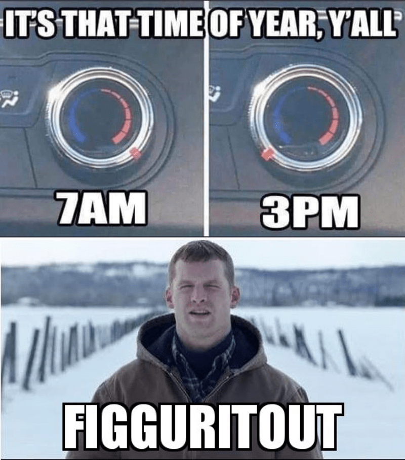 Photo caption - IT'S THAT TIME OF YEAR,YALL ЗРМ 7AM A FIGGURITOUT