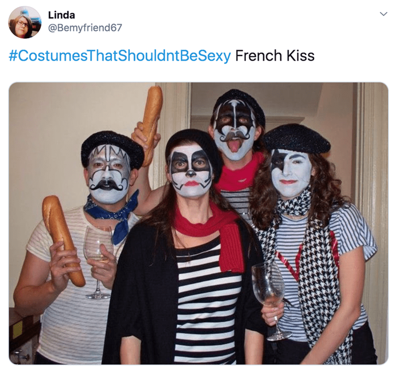 Face - Linda @Bemyfriend67 #CostumesThatShouldntBeSexy French Kiss