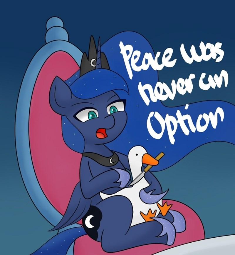 twilight's seven handgunboi princess luna untitled goose game - 9377525504