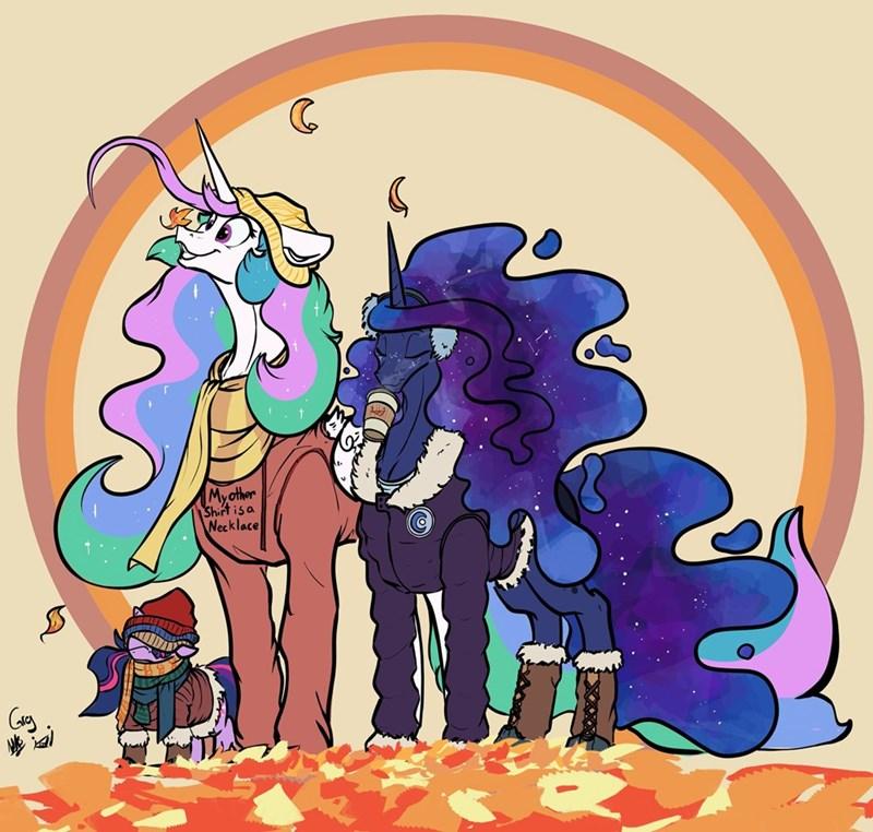 twilight sparkle princess luna princess celestia greyscale - 9377528064