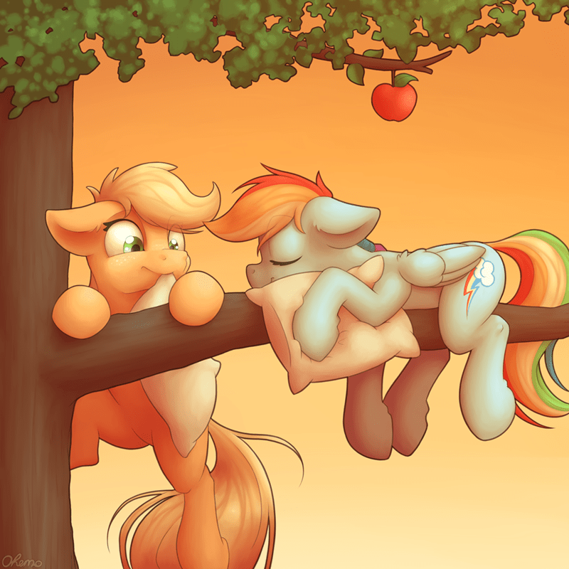 ohemo applejack rainbow dash - 9377528832