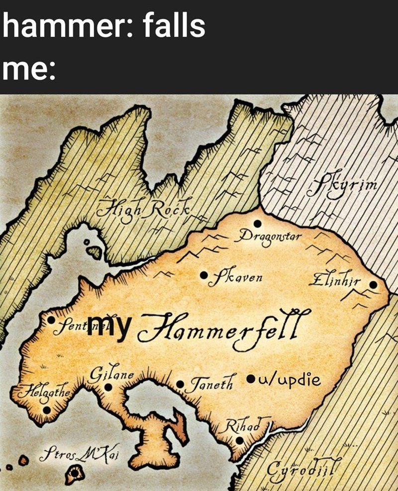 Text - hammer: falls me: isRok Drogentor phaven Elnhir my Hammer fell Gilane . Janeth u/updie Rihad ftres M oi