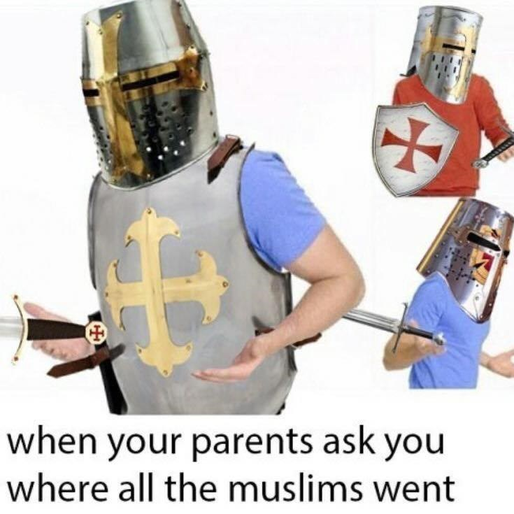 Helmet - when your parents ask you where all the muslims went