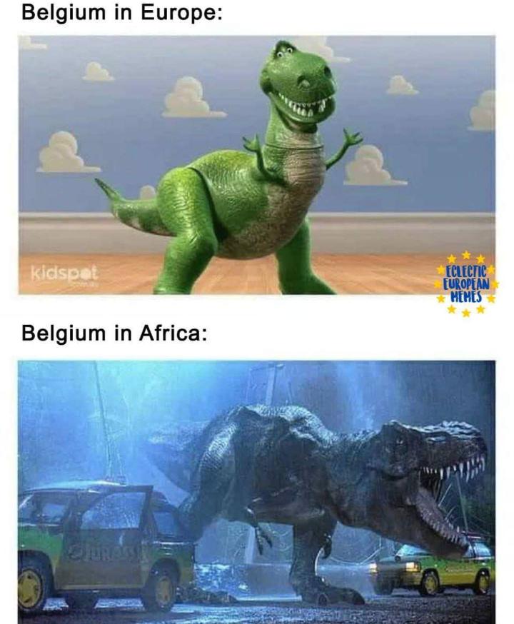 Person - Dinosaur - Belgium in Europe: ECLECTIC EUROPEAN HEMES kidspat Belgium in Africa: