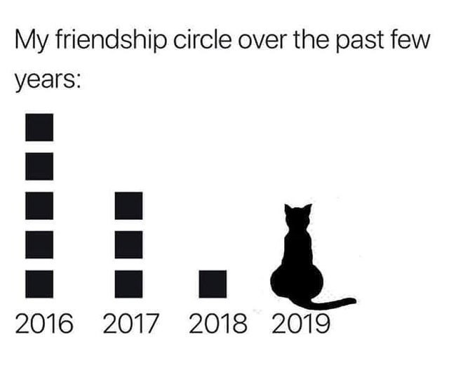 Text - My friendship circle over the past few years: 2016 2017 2018 2019