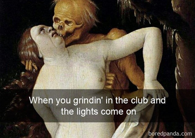 Facial expression - When you grindin' in the club and the lights come on boredpanda.com