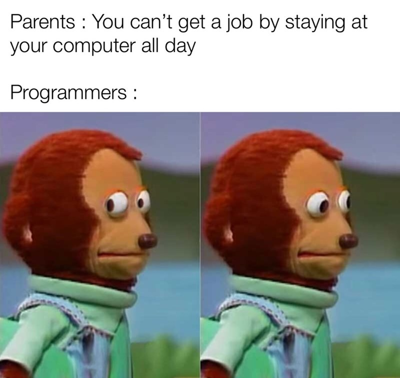 Animated cartoon - Parents You can't get a job by staying at your computer all day Programmers
