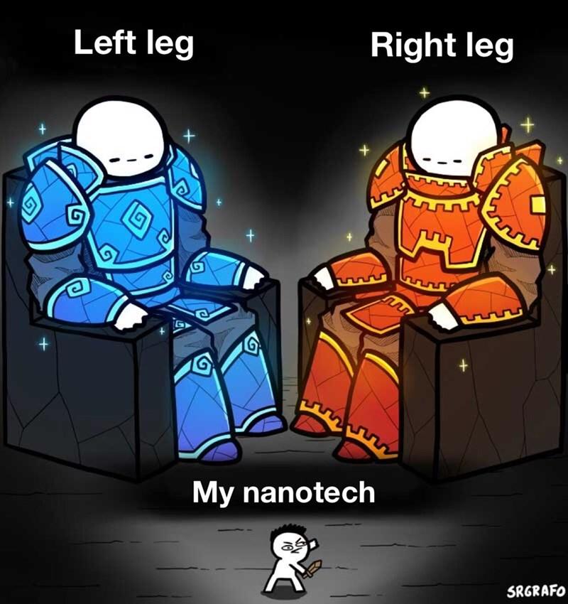 Cartoon - Left leg Right leg My nanotech SRGRAFO