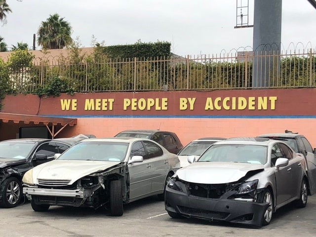 Land vehicle - WE MEET PEOPLE BY ACCIDENT