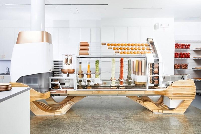 photo of burger machine in creator restaurant