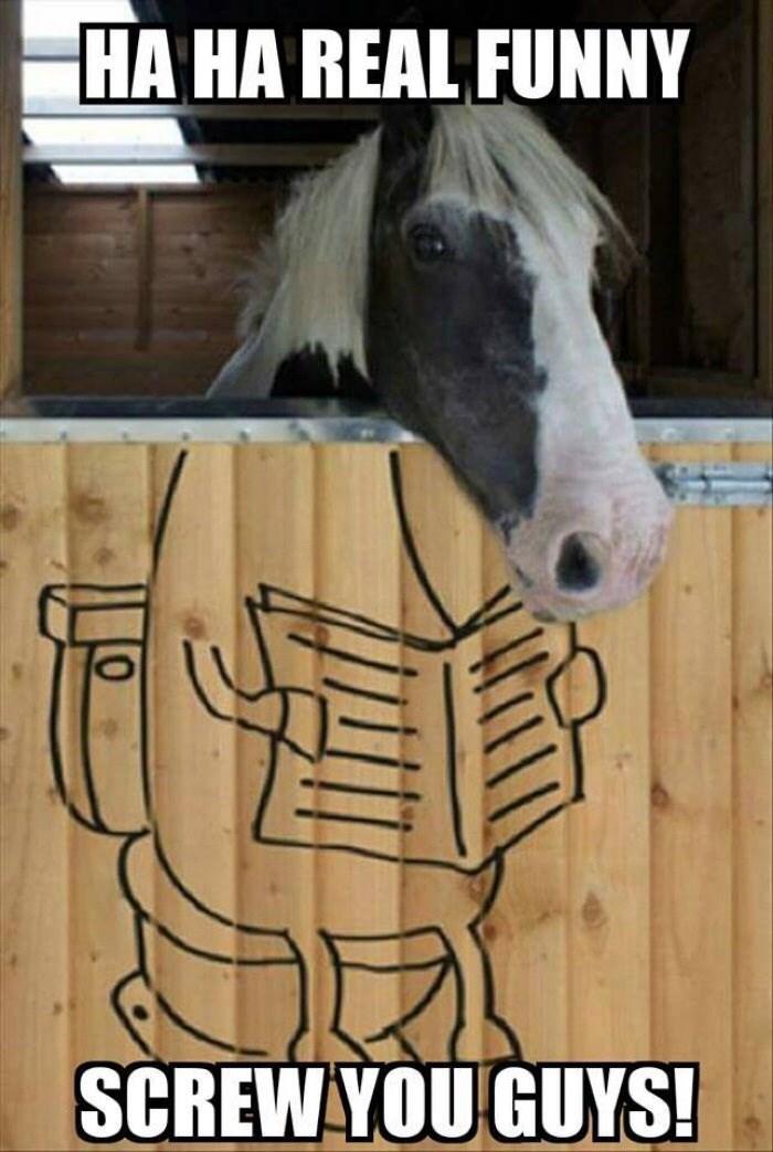 Horse - HA HA REAL FUNNY SCREW YOU GUYS!
