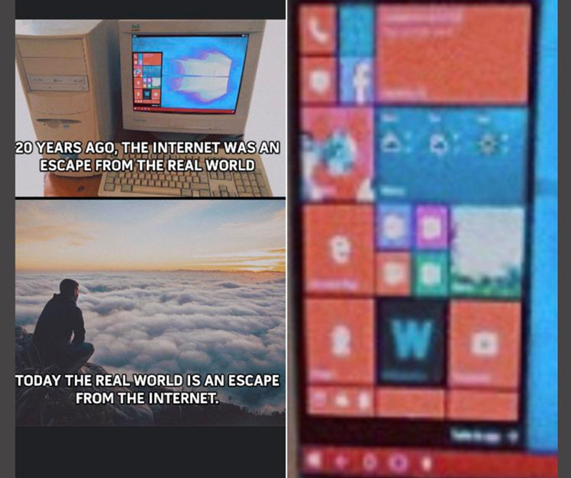 Gadget - 20 YEARS AGO, THE INTERNET WAS AN ESCAPE FROM THE REAL WORLD W TODAY THE REAL WORLD IS AN ESCAPE FROM THE INTERNET