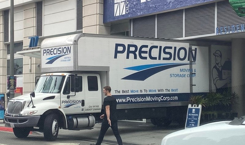 Motor vehicle - PRECISION PRECISION MOVNS STORAGE CORP MOVING& STORAGE CORP. The BEst MOVE Is To Move With The Best www.PrecisionMovingCorp.com PRECISION CA 191163 USDOT 2569585 NO PARKING FOR WELLSFARGO TMOBLE