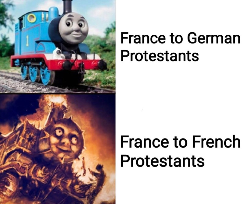 Thomas the tank engine - France to German Protestants France to French Protestants