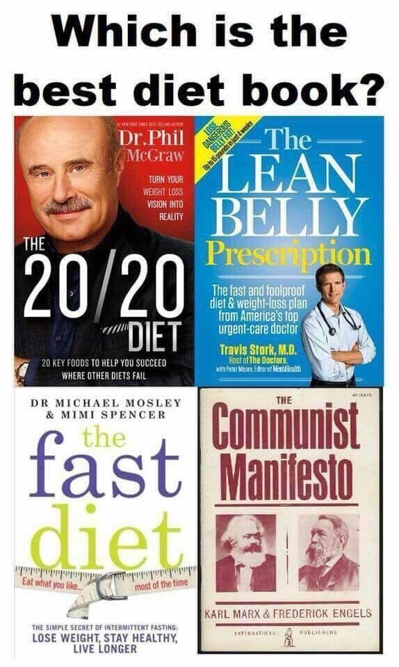 "Font - Which is the best diet book? DANGEROUS BELLY FAT E-ON Dr.Phil McGraw The LEAN BELLY Preseription TURN YOUR WEIGHT LOSS VISION INTO REALITY THE 20/20 The fast and foolproof diet &weight-loss plan from America's fop urgent-care doctor ""DIET Travis Stork, M.D. Host of The Doctars with Peter Meore Erer of Mns Health 20 KEY FOODS TO HELP YOU SUCCEED WHERE OTHER DIETS FAL DR MICHAEL MOSLEY & MIMI SPENCER THE Communist fast Maniesto the diet dadidasdade most of the time Eat what you like.. KARL"