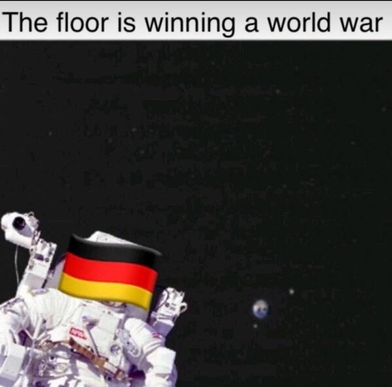 Astronaut - The floor is winning a world war