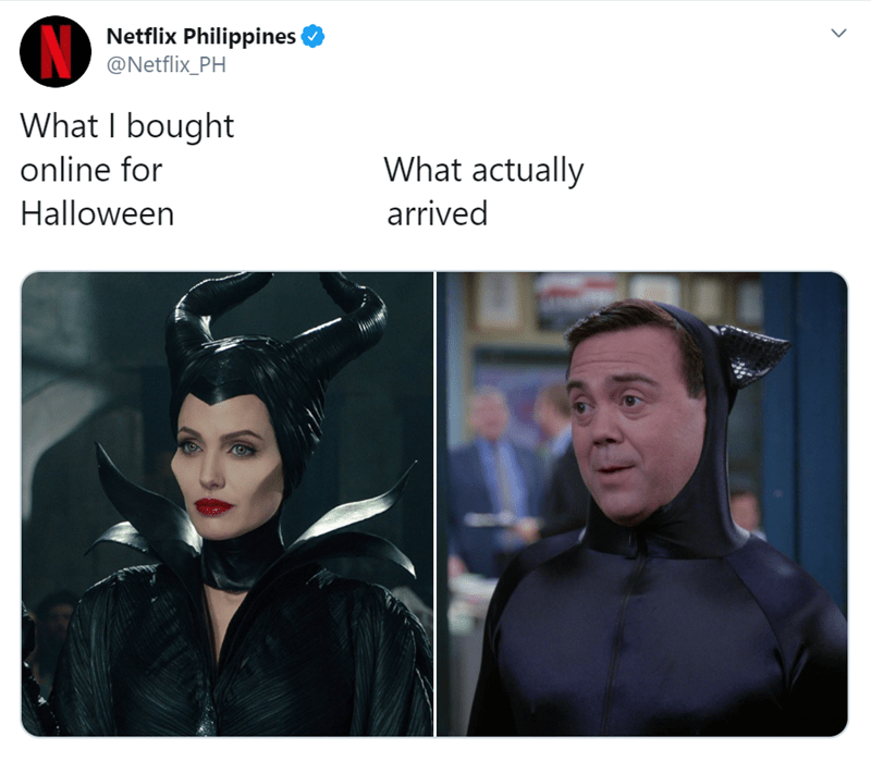 Fictional character - Netflix Philippines @Netflix_PH What I bought What actually online for Halloween arrived >