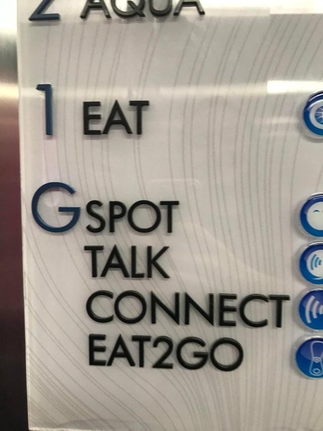 Text - EAT GSPOT TALK CONNECT EAT2GO