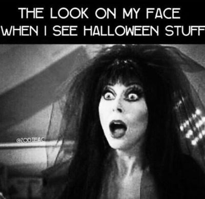 Facial expression - THE LOOK ON MY FACE WHEN I SEE HALLOWEEN STUFF eZODTEAC