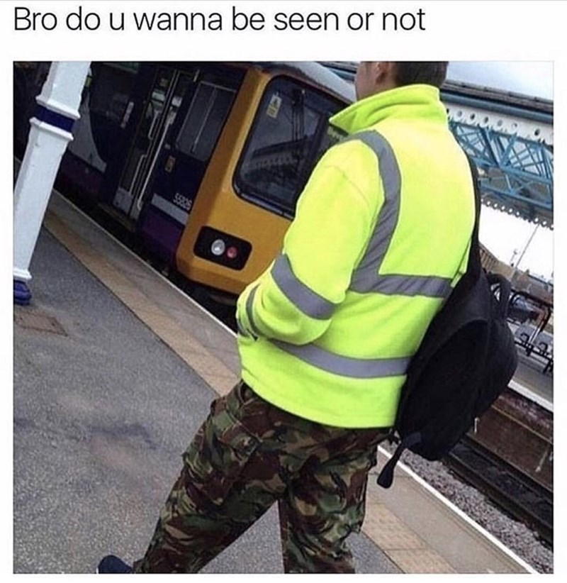 High-visibility clothing - Bro do u wanna be seen or not WONOROWO 55825