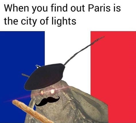 Line - When you find out Paris is the city of lights