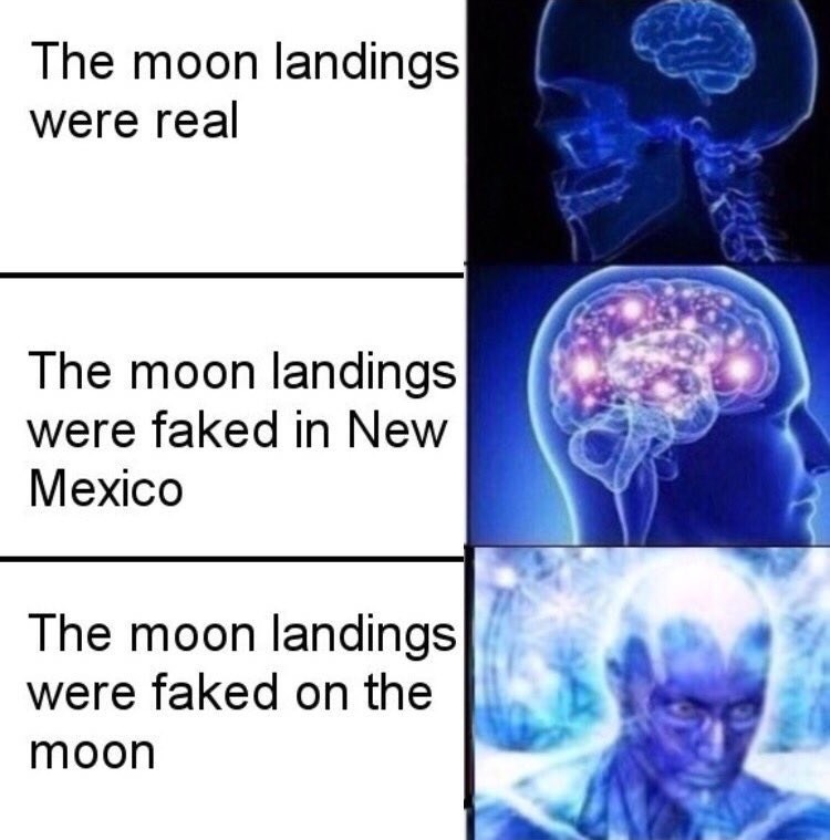 Medical imaging - The moon landings were real The moon landings were faked in New Mexico The moon landings were faked on the moon