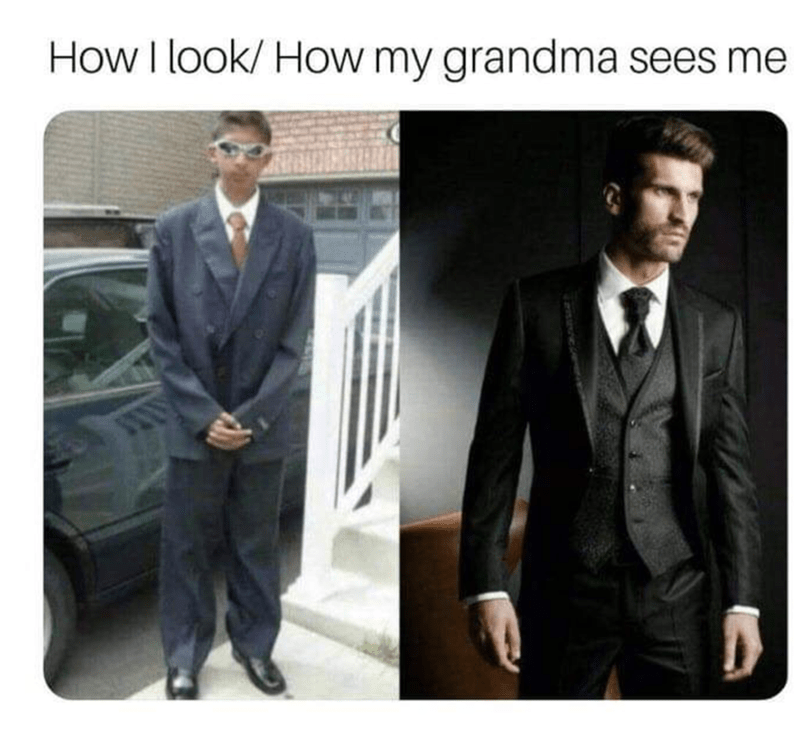 Suit - How I look/ How my grandma sees me