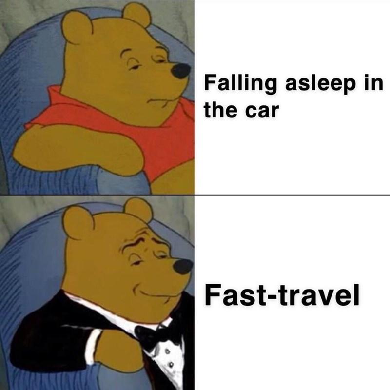 Cartoon - Falling asleep in the car Fast-travel