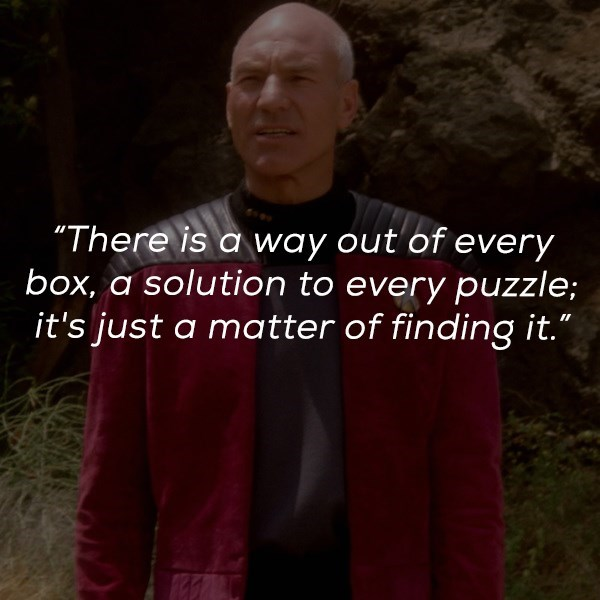 """Photo caption - """"There is a way out of every box, a solution to every puzzle; it's just a matter of finding it."""""""