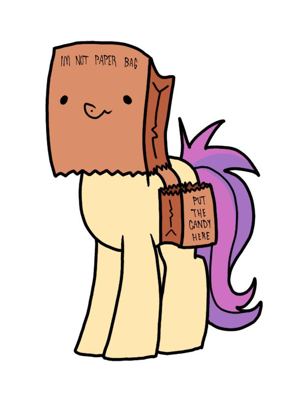 OC paper bag pony halloween - 9380105728
