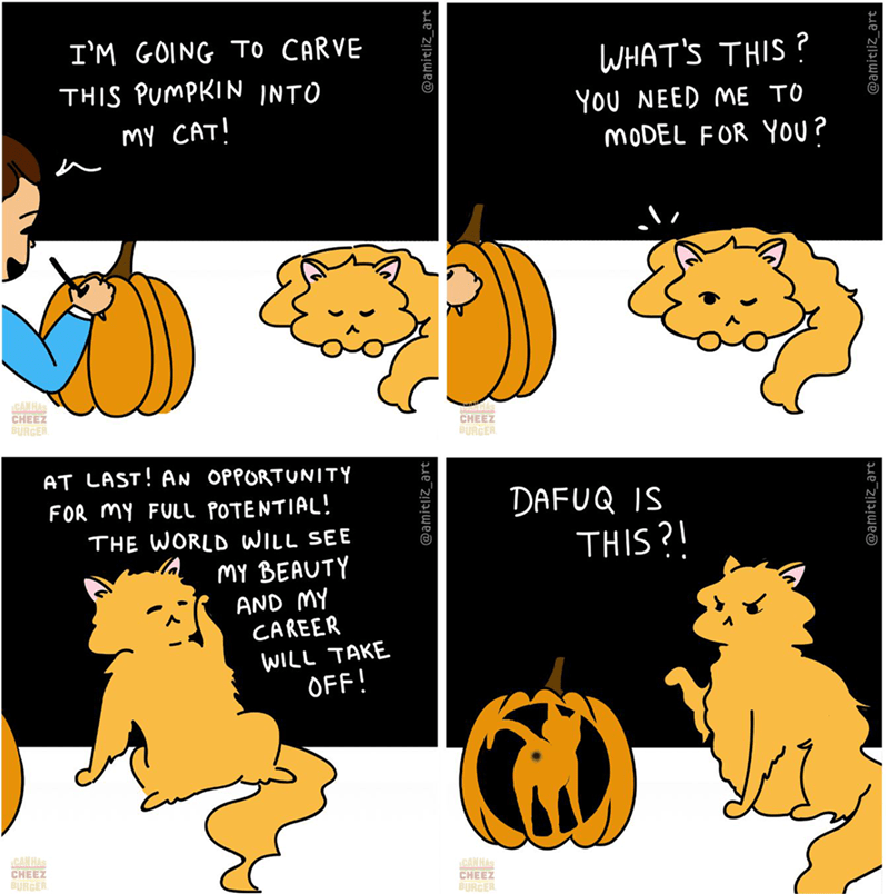 art funny comics HAPPY HALLOWEEN halloween comics funny cats meme comic Cats funny web comics - 9380174848