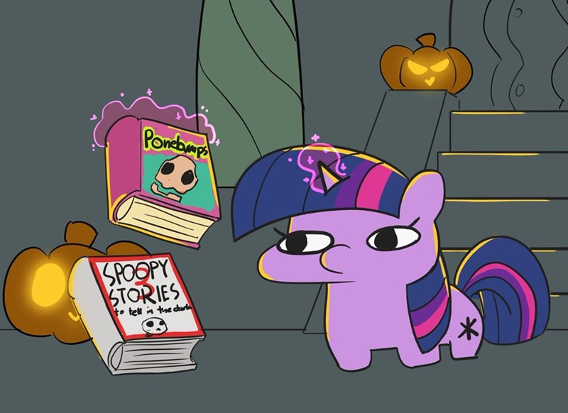 halloween twilight sparkle pabbley goosebumps scary stories to tell in the dark - 9380234496