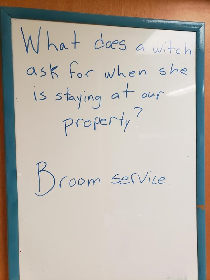 Text - What des witch al ask for when she at stying our Property Broom Service