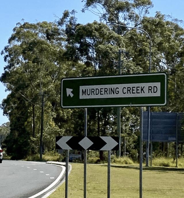 Street sign - MURDERING CREEK RD