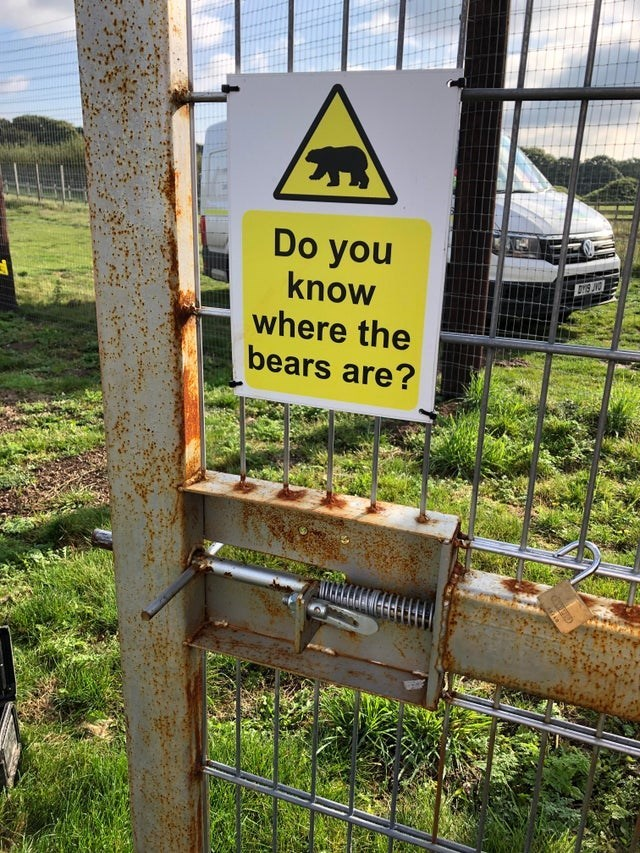 Signage - Do you know where the bears are?