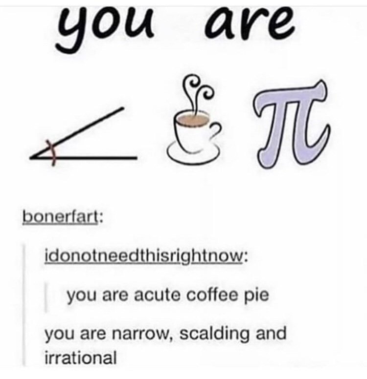 Text - you are Т bonerfart: idonotneedthisrightnow: you are acute coffee pie you are narrow, scalding and irrational