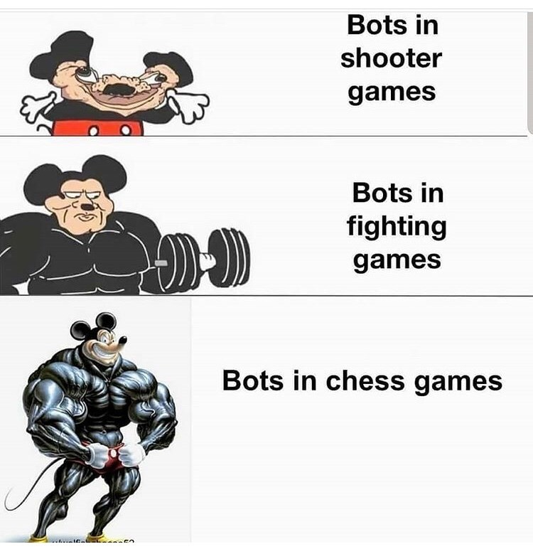 Cartoon - Bots in shooter games Bots in fighting games Bots in chess games en
