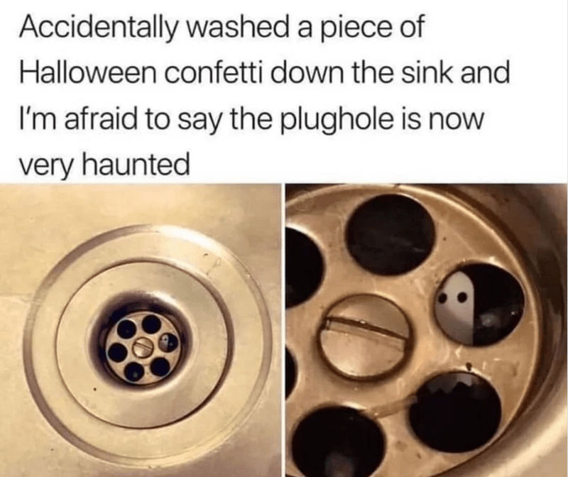 Alloy wheel - Accidentally washed a piece of Halloween confetti down the sink and I'm afraid to say the plughole is now very haunted