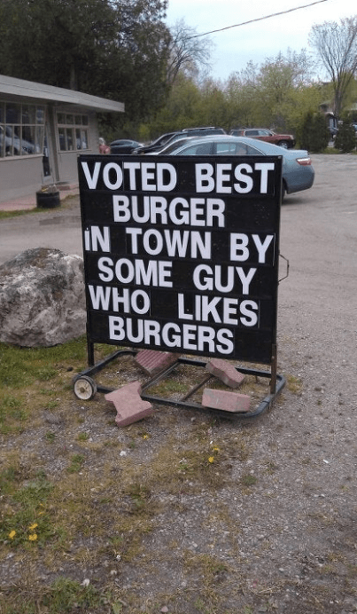Motor vehicle - VOTED BEST BURGER IN TOWN BY SOME GUY WHO LIKES BURGERS