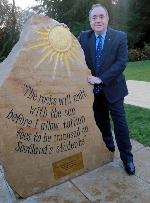 Memorial - The mcks will melt before I allow tution rees to be imposed SCotland's students With the sun on ee