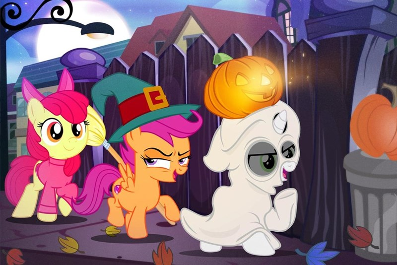 disney halloween Sweetie Belle apple bloom pixelkitties ponify Scootaloo - 9380608512