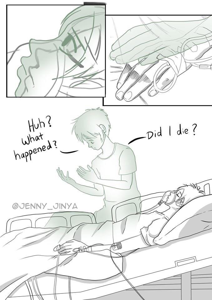Line art - Huh? what happened? Did I die? JENNY_JINYA