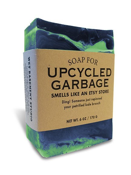 Superfood - SOAP FOR UPCYCLED GARBAGE SMELLS LIKE AN ETSY STORE Ding! Someone just repinned your petrified kale brooch NET WT.6 OZ/170 G WET BASEMENT STUDIO