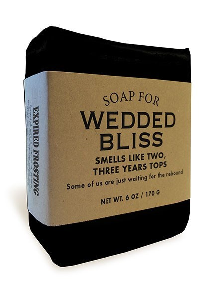 Product - SOAP FOR WEDDED BLISS SMELLS LIKE TWO, THREE YEARS TOPS Some of us are just waiting for the rebound NET WT.6 OZ/170 G EXPIRED FROSTING