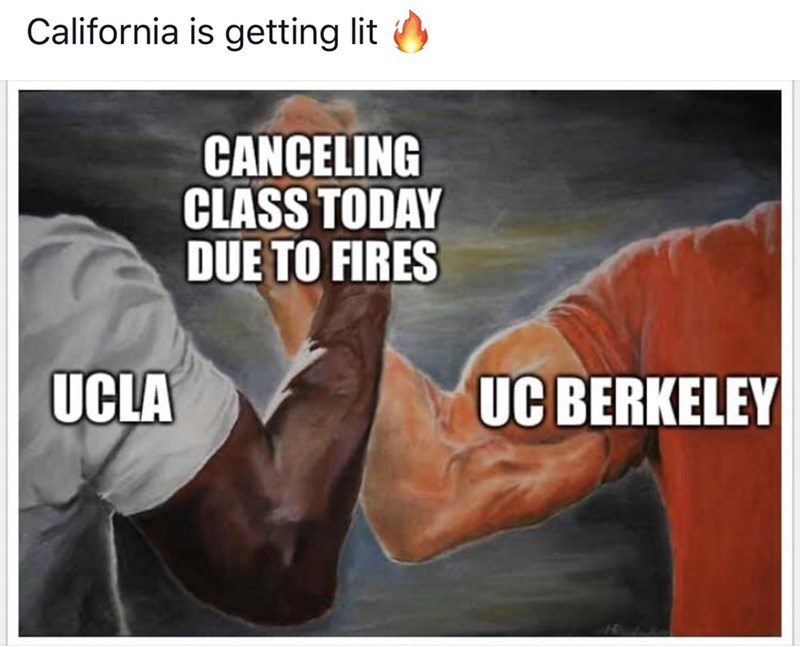 Bodybuilding - California is getting lit CANCELING CLASS TODAY DUE TO FIRES UC BERKELEY UCLA