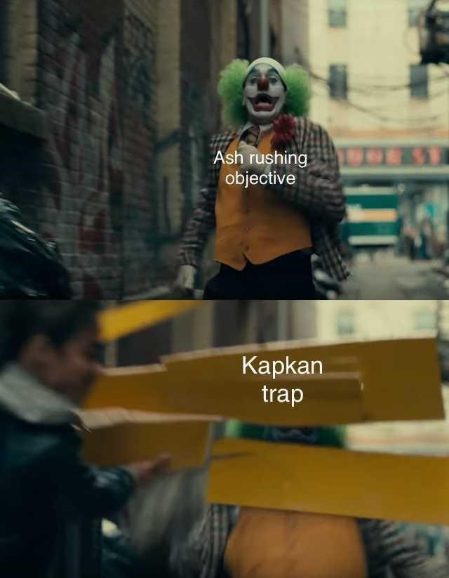 Fictional character - Ash rushing objective Кapkan trap